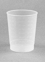 MEDEGEN INTAKE MEASURING CONTAINERS Intake Measuring Container, Polypropylene, 500/cs