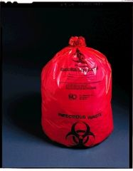 "MEDEGEN ULTRA-TUFF™ INFECTIOUS WASTE BAGS Infectious Waste Bag, 11"" x 14"", 1.5 mil, 1-2 gal, 50/pk, 10 pk/cs"
