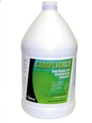 METREX COMPLIANCE STERILIZING & DISINFECTION SOLUTION Compliance Gallons (NOT for use with flexible endoscopes), 4/cs (36 cs/plt)