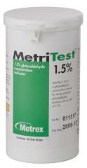 METREX METRITEST™ GLUTARALDEHYDE MetriTest 1½, For 14 Day Use Life, 60 strips/bottle, 2 btl/cs