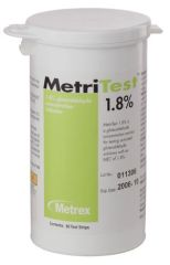 METREX METRITEST™ GLUTARALDEHYDE MetriTest 1.8, For 28 Day Use Life, 60 strips/bottle, 2 btl/cs