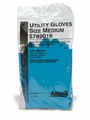 ANSELL LATEX/NITRILE BLEND UTILITY GLOVES Utility Gloves, Medium, 12 pr/bx, 4 bx/cs (US Only)