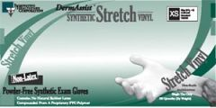 INNOVATIVE DERMASSIST® STRETCH VINYL EXAM GLOVES Gloves, Exam, X-Small (5½ - 6), Stretch Vinyl, Non-Sterile, PF, Smooth, 100/bx, 10 bx/cs