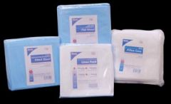 "DUKAL DISPOSABLE LINENS Fitted Sheet, Heavy Duty Fluid Impervious, 74"" x 30"" x 22"", Lt. Blue, 5/bg, 10 bg/cs (28 cs/plt)"