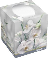 "KIMBERLY-CLARK FACIAL TISSUE Kleenex® Boutique® Facial Tissue, 8.4"" x 8.6"", White, 95/bx, 36 bx/cs (36 cs/plt)"