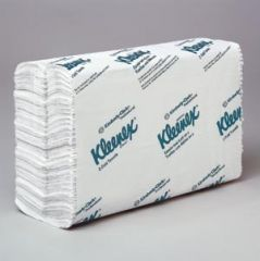 KIMBERLY-CLARK FOLDED TOWELS Kleenex® C-Fold Towels, 1-Ply, 150 sheets/pk, 16 pk/cs (48 cs/plt)
