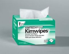 "KIMBERLY-CLARK KIMWIPES KimWipes® EX-L Delicate Task Wipers, Disposable, Popup Box, 4½"" x 8½"", White, 280/pk, 60 pk/cs (36 cs/plt)"