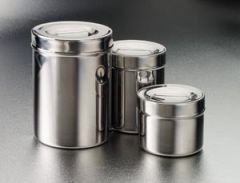 TECH-MED DRESSING JARS Dressing Jar, 1 Qt, Stainless Steel