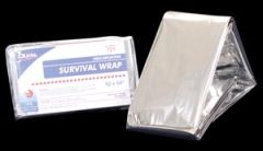 "DUKAL EMERGENCY BLANKETS Survival Wrap, 52"" x 84"", Silver, Heat Reflective, 250/cs"