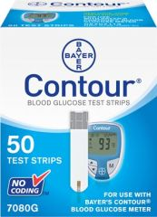 ASCENSIA CONTOUR® BLOOD GLUCOSE MONITORING SYSTEM Test Strips, (Contour 50s) For 9545 Meters, CLIA Waived, 50/bx