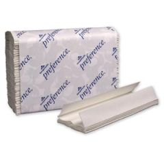 "GEORGIA-PACIFIC PREFERENCE® TOWELS C-Fold Paper Towels, Paper Band, White, 10¼"" x 13½"" Sheets, 200 ct/pk, 12 pk/cs (40 cs/plt)"
