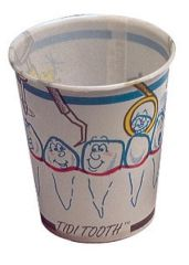 TIDI PAPER DRINKING CUP Infused Wax Paper Cup, Tooth Design, 5 oz, 100/bg, 10 bg/cs