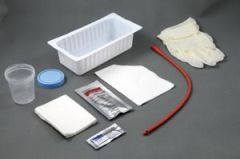 AMSINO AMSURE® URETHRAL CATHETERIZATION TRAY Urethral Catheter Tray, 14FR Red Rubber Urethral Catheter, Sterile (This Item Contains Latex), 20/cs