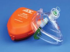 ADC ADSAFE™ CPR POCKET RESUSCITATOR CPR Valve Mask Resuscitator In Case, Orange (US Only)