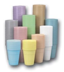 CROSSTEX PLASTIC CUPS Cup, 5 oz, White, 1000/cs (60 cs/plt)