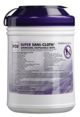 "PDI SUPER SANI-CLOTH® GERMICIDAL DISPOSABLE WIPE Germicidal Disposable Wipe, Large Canister, 6"" x 6¾"", 160/canister, 12 canister/cs (30 cs/plt) (091255) (US Only) (Item is considered HAZMAT and cannot ship via Air or to AK, GU, HI, PR, VI)"