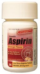 NEW WORLD IMPORTS CAREALL® ASPIRIN Aspirin, Chewable Tablets, 81mg, 36/btl, 24 btl/cs, Compare to St. Joseph® Aspirin (Not Available for sale into Canada)
