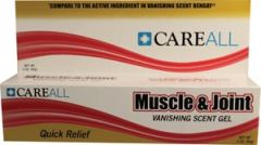 NEW WORLD IMPORTS CAREALL® MUSCLE & JOINT GEL Muscle & Joint Vanishing Scent Gel, Compared to the Active Ingredient in Vanishing Scent Bengay®, 3 oz, 72/cs (Not Available for sale into Canada)