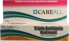 NEW WORLD IMPORTS CAREALL® TRIPLE ANTIBIOTIC Triple Antibiotic Ointment, 1 oz, Compared to the Active Ingredients in Neosporin®, 24/bx (Not Available for sale into Canada)