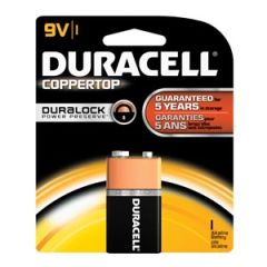 DURACELL® COPPERTOP® ALKALINE RETAIL BATTERY WITH DURALOCK POWER PRESERVE™ TECHNOLOGY Battery, Alkaline, Size 9V, 12/bx, 4 bx/cs (UPC# 09361)