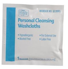 PDI HYGEA® FLUSHABLE PERSONAL CLEANSING CLOTHS Multi-Purpose Washcloths, Individually Packed, 400/cs (24 cs/plt) (US Only)