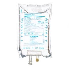 B BRAUN SODIUM CHLORIDE INJECTIONS USP Sodium Chloride Injections, 0.9%, 500mL, EXCEL® Container (Rx), 24/cs (32 cs/plt)  **For Licensed Medical Practitioners Only**