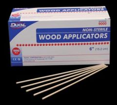 "DUKAL WOOD APPLICATORS Applicator, 6"", Wood, 1000/bx, 30 bx/cs"