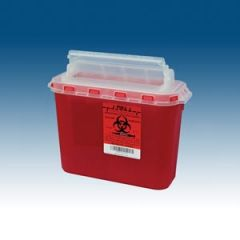 PLASTI WALL MOUNTED SHARPS DISPOSAL SYSTEM Container, 5.4 Qt, Red, 10/bx, 2 bx/cs