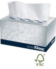 "KIMBERLY-CLARK KLEENEX® HAND TOWELS Hand Towel, Pop-Up Box, White, 1-Ply, 9"" x 10½"", 120 Sheet/bx, 18 bx/cs (42 cs/plt)"
