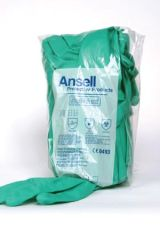 ANSELL SOL-VEX® NITRILE CHEMICAL PROTECTION GLOVES Protection Gloves, Size 9-9½, 12 pr/bg, 12 bg/cs (US Only)