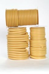 """HYGENIC NATURAL RUBBER TUBING Translucent Amber Tubing, 5/16""""-ID x 3/32""""-Wall x ½""""-OD, 50 ft"""