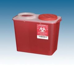 PLASTI BIG MOUTH SHARPS CONTAINERS Big Mouth Container, 8 Qt Red, 20/cs