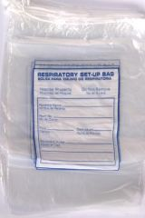 "RD PLASTICS RESPIRATORY CARE SET-UP BAGS Drawstring Bag, 12"" x 15"", 500/cs"