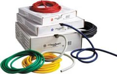 HYGENIC/THERA-BAND PROFESSIONAL RESISTANCE TUBING Resistance Tubing, Silver/ Super Heavy, 100 ft Dispenser Box, 4 ea/cs (020037) (US Only)