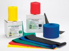 HYGENIC/THERA-BAND PROFESSIONAL RESISTANCE BANDS Resistance Band, Black/ Special Heavy, 25 Yd Dispenser Box, Latex Free (LF), 12 ea/cs (36 cs/plt) (020524) (US Only)