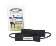 HYGENIC/THERA-BAND PROFESSIONAL RESISTANCE TUBING Resistance Tubing Loop with Padded Cuffs, Blue, Intermediate/ Advanced, Retail Packaging, 12 ea/cs (US Only)