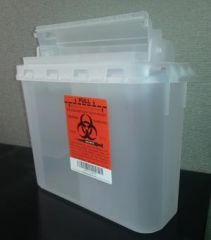 PLASTI WALL MOUNTED SHARPS DISPOSAL SYSTEM Container, 5.4 Qt, Clear, 10/bx, 2 bx/cs