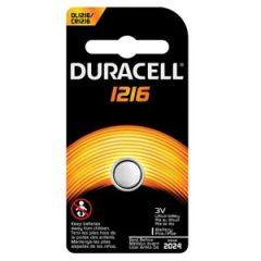 DURACELL® ELECTRONIC WATCH BATTERY Battery, Lithium, Size DL1216, 3V, 6/bx, 6 bx/cs (UPC# 66262) (Item is considered HAZMAT and cannot ship via Air or to AK, GU, HI, PR, VI)
