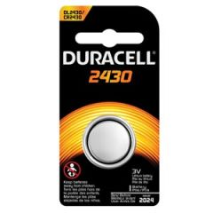 DURACELL® SECURITY BATTERY Battery, Lithium, Size DL2430, 3V, 6/bx, 6 bx/cs (UPC# 66183) (Item is considered HAZMAT and cannot ship via Air or to AK, GU, HI, PR, VI)