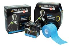 "HYGENIC/THERA-BAND KINESIOLOGY TAPE Kinesiology Tape, Bulk Continuous Roll, Large Dispenser Box, 2"" x 103.3ft, Black/ Black Print, Latex-Free, 6/cs (091281) (US Only)"