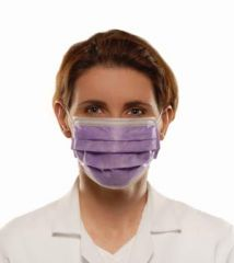 Richmond Earloop Face Masks Earloop Face Mask, Anti-Fluid, Anti-Fog, Lavender, 50/bx, 6 bx/cs
