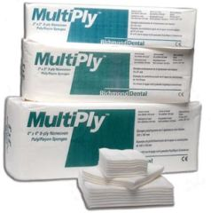 "Richmond Multiply™ Non Woven Sponges MultiPly Non-Woven Rayon/ Poly Sponge, 3"" x 3"", 8-Ply, Non-Sterile, 100/slv, 25 slv/cs"