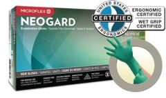 ANSELL MICROFLEX NEOGARD® POWDER-FREE MEDICAL-GRADE CHLOROPRENE EXAM GLOVES Exam Gloves, Chloroprene, PF, Latex-Free, Textured Fingers, Green, X-Large, 100/bx, 10 bx/cs (60 cs/plt) (For Sale in US Only)