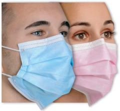 "Mydent Defend ""Diffuser"" Anti Fog Earloop Face Mask Earloop Face Mask, Anti-Fog, Pink, 50/bx"