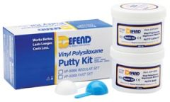 MYDENT DEFEND SUPER HYDROPHILIC VPS IMPRESSION MATERIAL Vinyl Polysiloxane Putty Kit-Fast Set. Includes 2x300 mL jars + 2 scoops