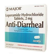 MAJOR LAXATIVES Anti-Diarrheal, Caplets, 24s, Boxed, Compare to Imodium A-D®, NDC# 00904-7725-24