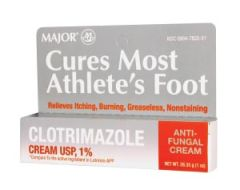 MAJOR FOOT CARE Clotrimazole, 1% Anti-Fungal Cream, 30gm, Compare to Lotrimin-AF®, NDC# 00904-7822-31