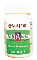 MAJOR MULTIVITAMINS Tab-A-Vite, Tablets, 100s, Compare to One-A-Day®, NDC# 00904-0530-60