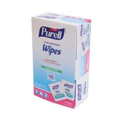 GOJO PURELL® SANITIZING HAND WIPES Wipes, Individually Wrapped, 100 Ct Box, 10 bx/cs