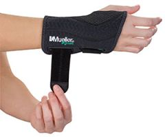 MUELLER® GREEN FITTED WRIST BRACE Black, Large/X-Large, Left (In retail pkg) (Products are only available for sale in the U.S. Products cannot be sold on Amazon.com or any other 3rd party platform without prior approval by Mueller.)